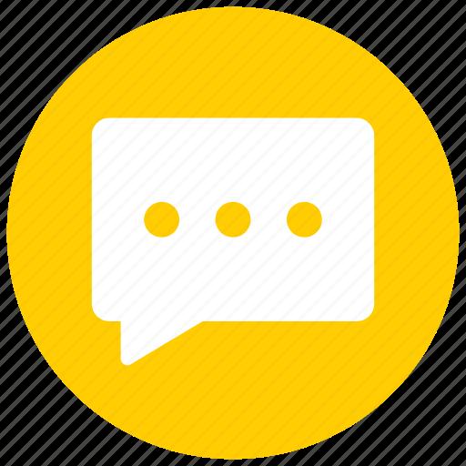 bubble, chat, comment, message icon icon