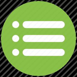 apps, list, menu, option, options icon icon