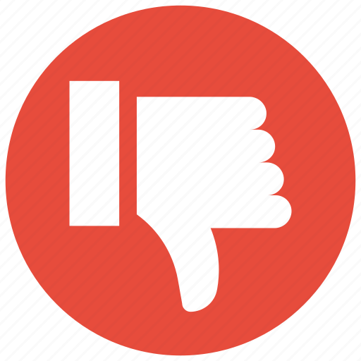 dislike, down, downvote, hand, thumb down icon, thumbs icon