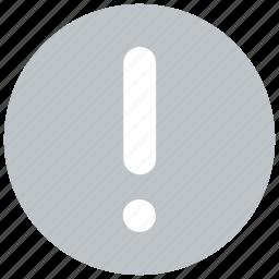 alert, error, notification, warn, warning, web icon icon