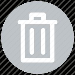 bin, delete, recycle, trash, trash bin icon icon
