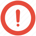 alert, circle, error, exclamation icon icon