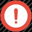 alert, circle, error, exclamation icon icon