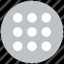 grid, layout, menu, schedule icon icon