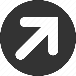 arrow, right, top icon