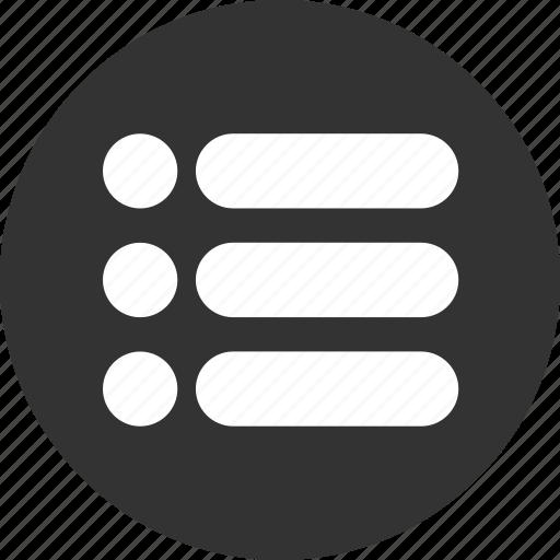 Bullet, bullets, items, list, menu icon - Download on Iconfinder