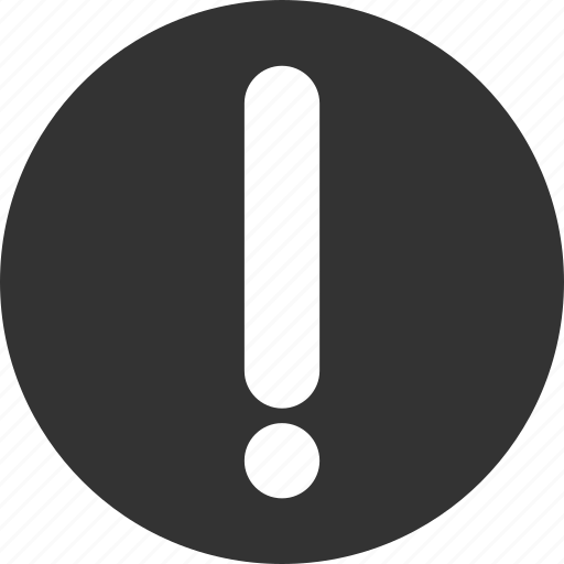 alert, caution, danger, error, exclamation, problem icon