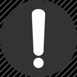 alert, caution, danger, error, exclamation, problem icon