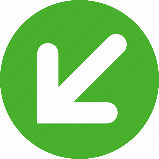 arrow, arrows, bottom, direction, down, left icon