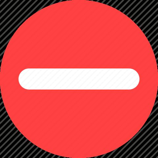 close, minus, remove icon