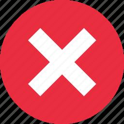 cancel, close, delete, exit, remove, stop, x icon