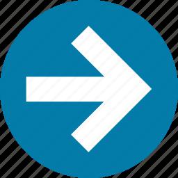 arrow, arrows, direction, east, forward, right icon