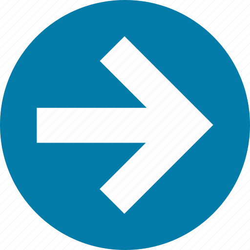 arrow, arrows, direction, east, forward, right icon