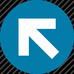 arrow, arrows, direction, left, north, top, west icon
