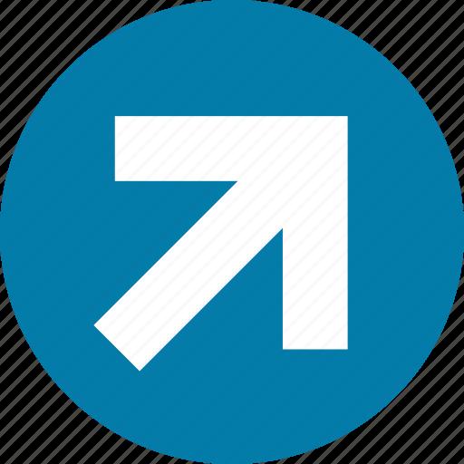 arrow, arrows, direction, east, north, right, top icon