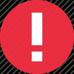 error, exclamation icon