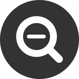 magnify, out, zoom icon
