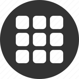 apps, grid, menu icon