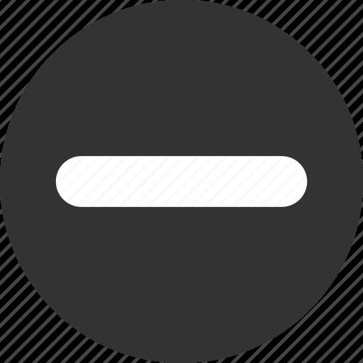 Minus icon - Download on Iconfinder on Iconfinder
