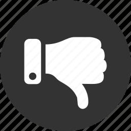 dislike, down, thumbs, vote icon