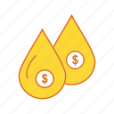drop, money, water, water drop icon