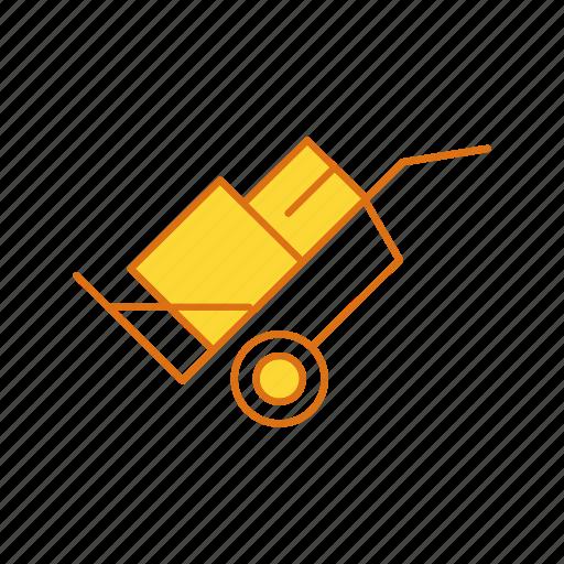 cargo, cart, shopping, trolley icon