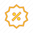 persentage, price, retail, tag icon