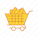 add to cart, cargo, cart, trolley icon
