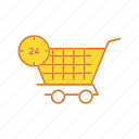 cart, mobile, trolley icon