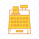 billing machine, calculator, cashier, machine icon