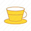 coffee cup, cup, green tea, tea cup icon