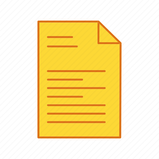 document, list, report, sheet icon
