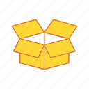 box, cargo, cargo box, delivery icon