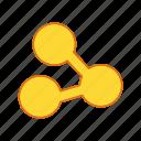 attach, attachment, connect, link icon