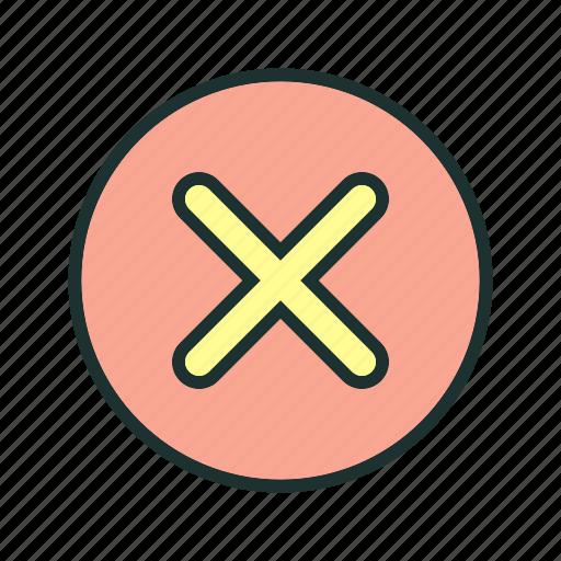 cancel, close, cross, exit icon