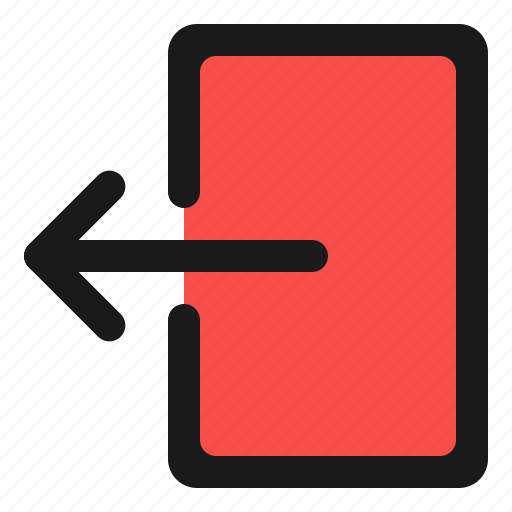 Basic, logout, ui, arrow, door, exit, quit icon - Download on Iconfinder