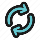 arrow, arrows, basic, refresh, ui icon