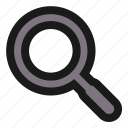 basic, find, magnifier, search, ui, view, zoom icon