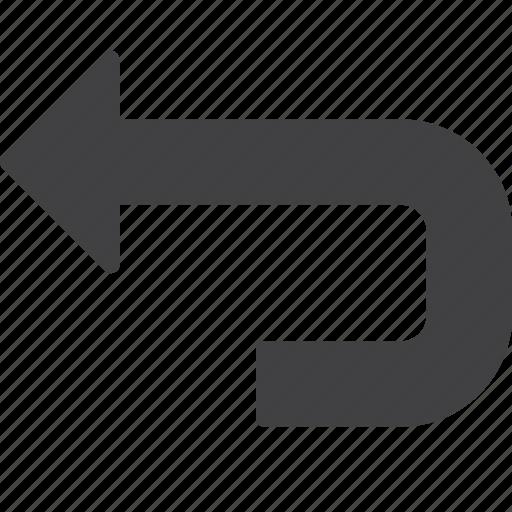 arrow, back, undo icon