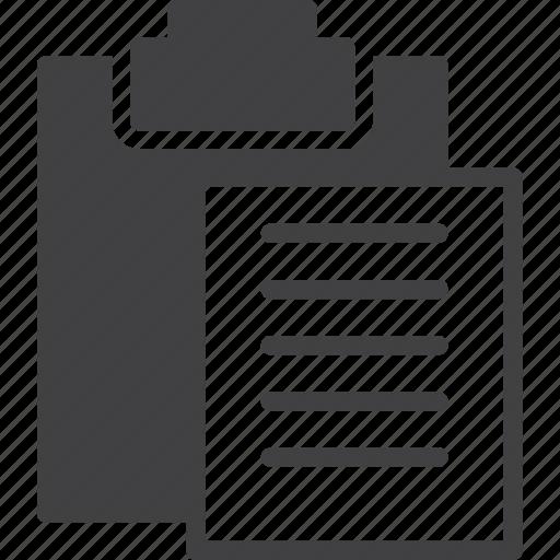 clipboard, paste icon