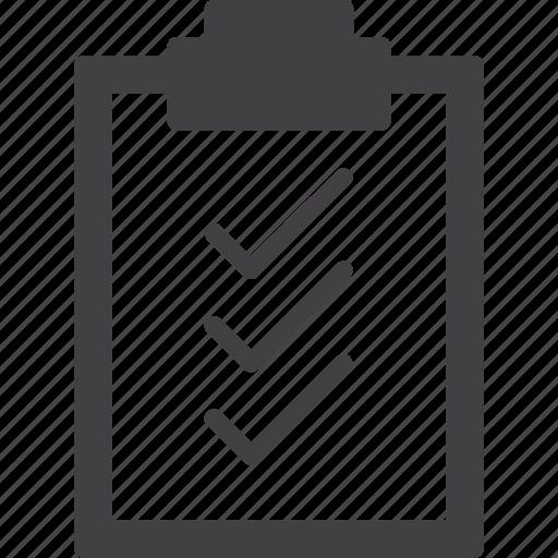 check, checklist, clipboard, list icon