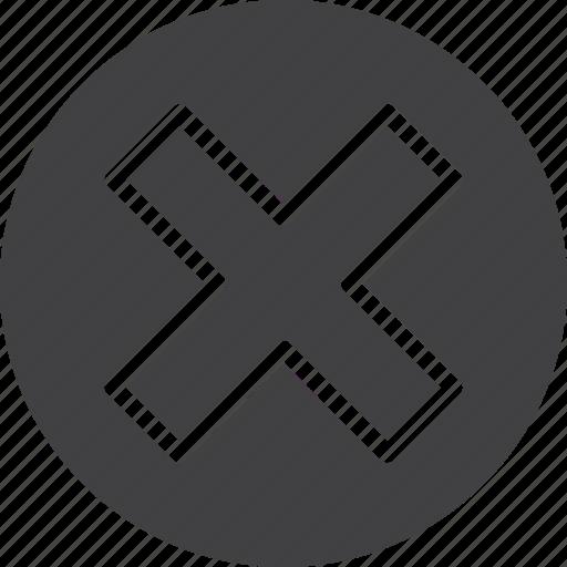 cancel, circle, close, cross, delete icon