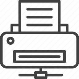 network, print, printer, server icon