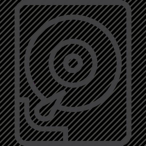 Disk, drive, hard, hdd, storage icon - Download on Iconfinder