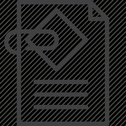 attach, attachment, clip, document, paperclip icon