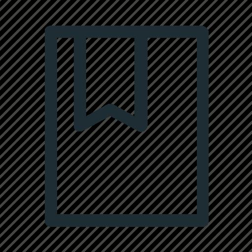 book, bookmark, interface icon