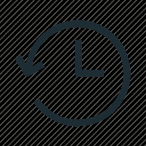 back, history, interface, reset, time back, undo icon