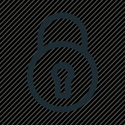 lock, locked, padlock, privacy, secure icon