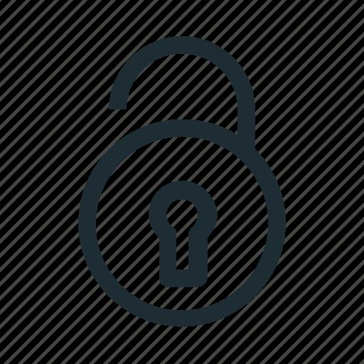 lock, open, unlock icon