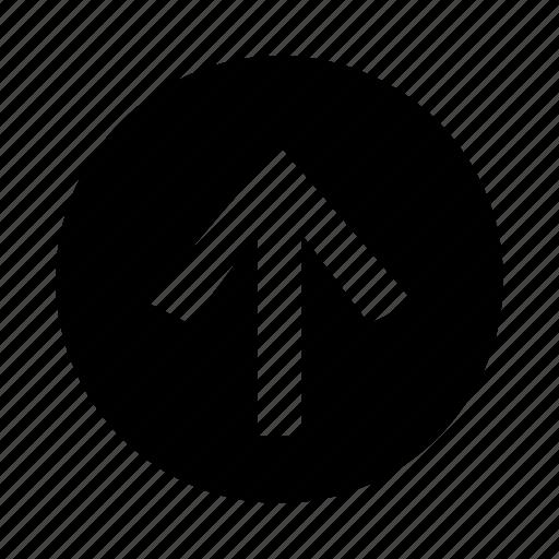 arrow, control, look, up icon